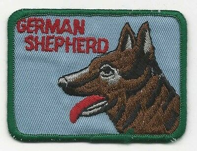 German Shepherd Dog Patch 3-1/4 Inches Long Size