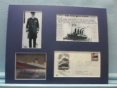 The Sinking of the RMS Titanic & First day Cover of its own stamp