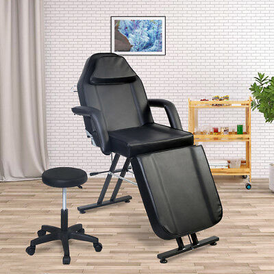 Beauty Salon Chair Balance Massage Table Tattoo Facial Couch Bed  Couch W/Stool