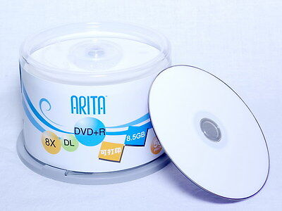 10 RiTEK ARITA Series DVD+R DL 8.5GB 8X Dual Layer D9 Disc Printable Repacked