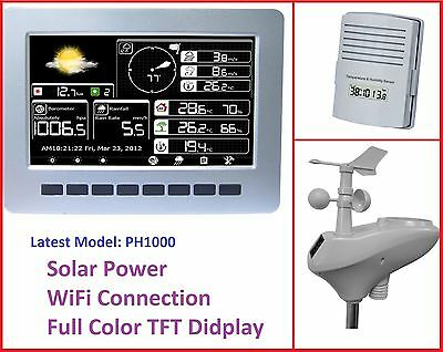 Solar powered Wireless Weather Station with WiFi connection