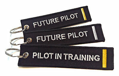 Aviation Future Pilot Embroidered High Quality Keychain /Keyring / Luggage Tag