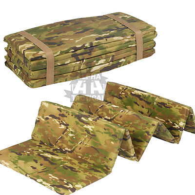 Military Mtp / Multicam Folding Sleep Mat Sniper Water Resistant Roll Insulation
