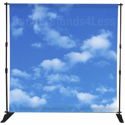 8x10 Step and Repeat Backdrop Telescopic Banner Stand Wholesale Adjustable 10x8