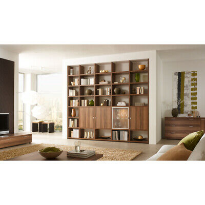 regalwand wohnwand b cherregal anbauwand regal 60er 70er. Black Bedroom Furniture Sets. Home Design Ideas