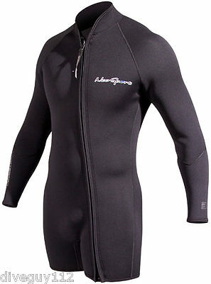 NeoSport Waterman 7mm Step-in Jacket Scuba Diving Wetsuit Men's Black All Sizes