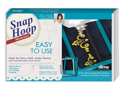 """Dime Snap Embroidery Hoop Monster For Quick Snap 4""""X4""""&5""""X7""""Bundle-PR600, PR1000"""