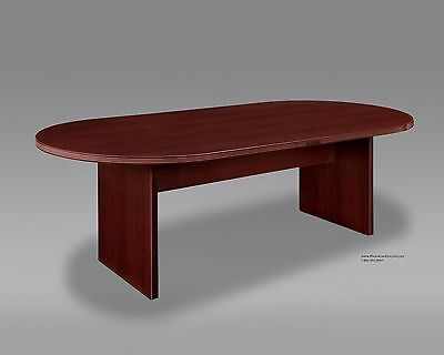 8 Foot Conference Table with 6 Mid Back Chairs SET in Many Colors and Styles