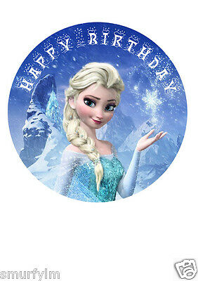 Remarkable Frozen Elsa Birthday Cake Edible Topper Decoration Icing Sugar 7 5 Personalised Birthday Cards Paralily Jamesorg