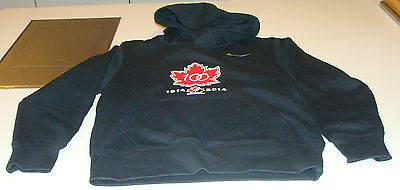 Canada 2015 World Juniors Hockey 100th Anniversary Youth Hoodie Sweater L Black