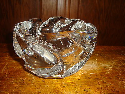Vintage Daum Nancy France Signed Crystal Bowl Candy Dish Ash Tray Heavy