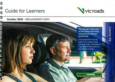Vic Roads Guide For Learners + Learner Log Book Replacement Latest Edition