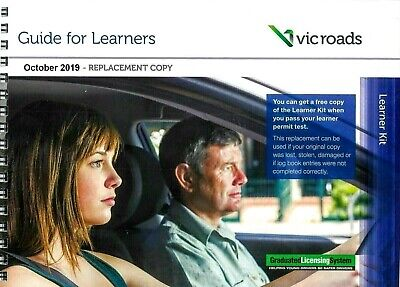 Vic Roads Learner Log Book Guide For Learners Replacement Copy Latest 2017 Nov