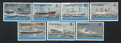 Dominica Ships stamps