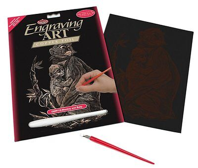 Engraving Art Set – Monkey and Baby – Copper Foil by Royal and Langnickel