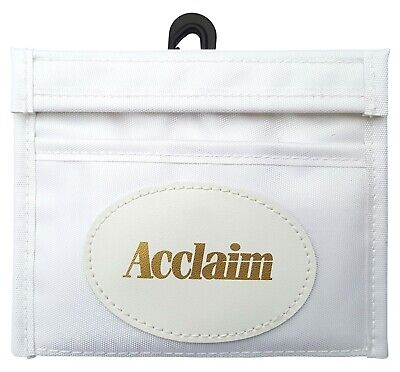 ACCLAIM Consett Mens Bowlers Bowls Marker Wallet White Nylon Fabric 13cm x 11cm