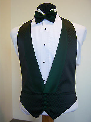 Emerald Green Tridesent Formal Vest - Excelent used condition - TRI