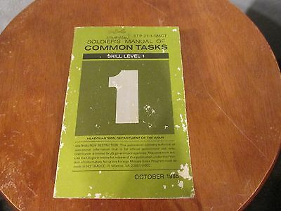 STP 21-1-SMCT Soldiers Manual of Common Tasks Skill Level 1 1985 Dept of Army