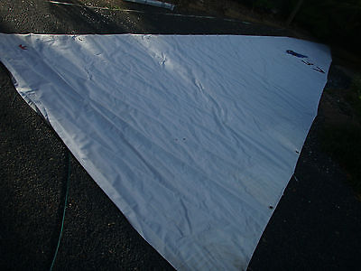 37'er mainsail 8oz dacron 12.5x 4.47m 2 reefs battens included VG reduced