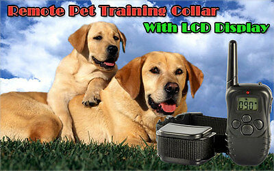 300M Remote Waterproof Shock Dog Training Collars with LCD display for 1 dog