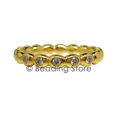 NEW Pandora 14k Gold Diamond Bubble Bubbles Ring RRP$925 Sz 55 150144D Genuine