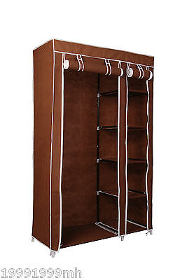 "HOMCOM 69"" Closet Storage Organizer Portable Wardrobe Clothes Rack W/ Shelves"