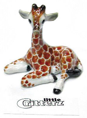 ➸ LITTLE CRITTERZ Wild Animal Miniature Figurine Giraffe Calf Aerial