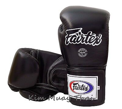Fairtex Muay Thai MMA K1 Boxing Gloves BGV5 Black Super Sparring Gloves 12 14 16