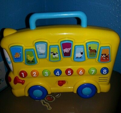 BATTERY OPERATED-KIDS LEARNING TOY-ANIMALS & NUMBERS-SOUNDS-WORKS GREAT!