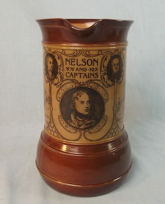 Royal Doulton Stoneware Jug Nelson And His Captains (Brown)