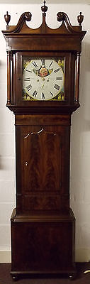 8 Day square painted dial long case clock -John Wignall Ormskirk circa 1798-1848