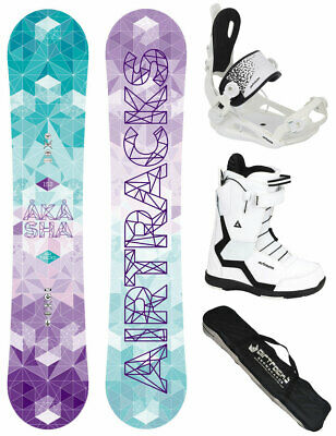 Damen Snowboard Set AIRTRACKS Amour Rocker+Bindung+Boots+SB Bag /144 148 151 cm/