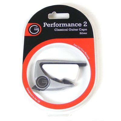 G7th Performance 2 Capo for Classical Guitar, Silver, 0263