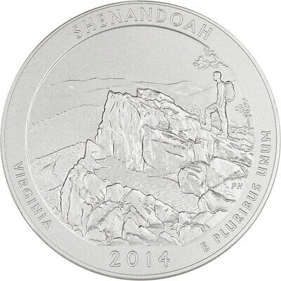 2014-P US America the Beautiful 5 oz Silver Uncirculated Coin - Shenandoah