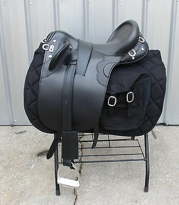 "Special Police model 18"" black Australian saddle made to police specifications"