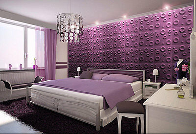3D WALL CEILING PANELS POLYSTYRENE TILES (Pack of 24) 6 Sqm - CRATERS 3D