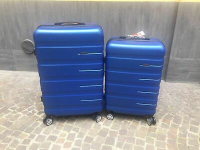 Set 2 Valigie Trolley Grande E Media Rigide  In Abs  4 Ruote Autonome