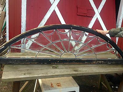 Great Old Heavy Beveled Sunrise Window 1900's Out Of Pharmacy