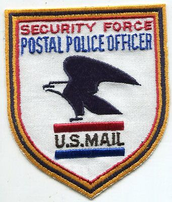 Obsolete 1970's Security Force Postal Police Officer US Mail Patch