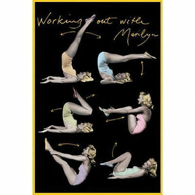WORKING OUT WITH MARILYN MONROE - EXERCISE POSTER - 24x36 SHRINK WRAPPED 1538