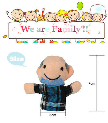 6Pcs Family Finger Plush Puppets Cloth Doll Baby Kid Educational Hand Toy Story