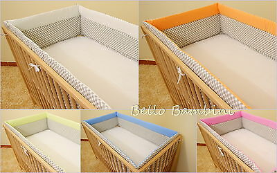 All round bumper/Nursery Bumper/420long/Padded for Sided/Cot Bed (140 x 70cm)