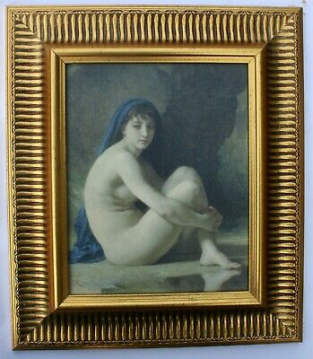 Nude Lady Framed Oleograph / Oilograph 812#'  Reproduction Picture , Art