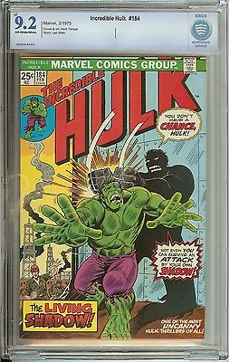 Incredible Hulk #184 Cbcs 9.2 Ow/wh Pages // Herb Trimpe Cover/art