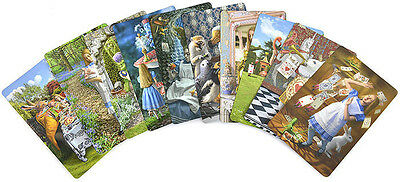 Set of ten illustrations from The Alice Tarot by K.Mahony, A.Ukolov, NEW, sealed