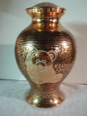 Pretty Plated Copper w/ White Teddy Bear~~holds up to 76 lbs.~Imperfect