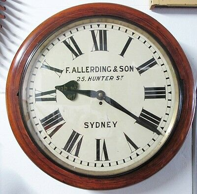 Very Large Australian Cased Fusee Clock, C1870's For F. Allerding & Sons