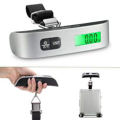 Portable Travel 110lb 50kg LCD Digital Hanging Luggage Scale Electronic Weight
