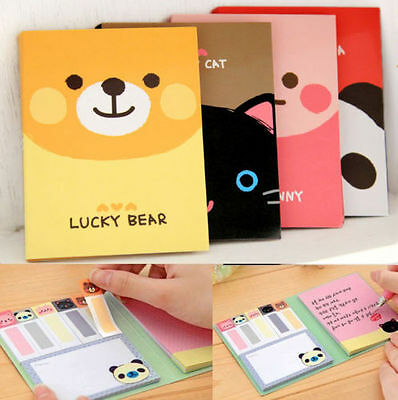Cute Animals Sticker Bookmark Point Marker Memo Flags Sticky Notes