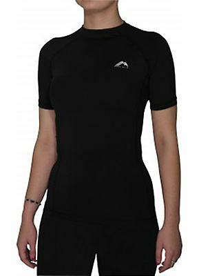 More Mile Womens Ladies Compression Baselayer Short Sleeve Running Sports MM1852